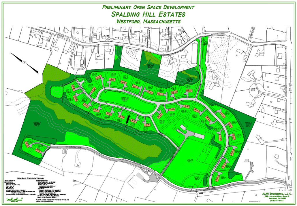 Spalding Hill site map Westford MA