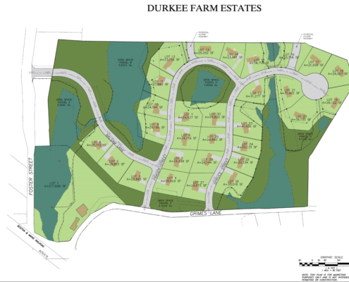 Durkee Farm Estates site plan